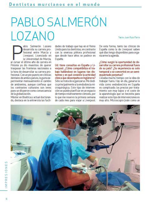 portada entrevista Colegio Odontologos Murcia